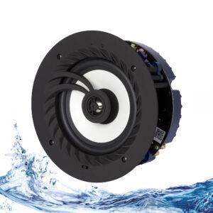 Lithe Audio, 03210 Bluetooth 5, IP44, Altavoz de techo para baño Inalámbrico Bluetooth (Individual)