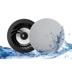 Lithe Audio, 03211 Bluetooth 5, IP44, Altavoz de techo para baño 6.5″ Inalámbrico Bluetooth (Par)